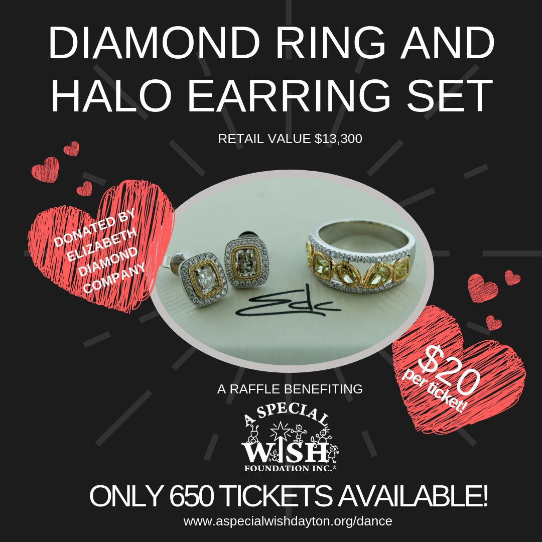 Diamond Ring and Halo Earring Set Raffle
